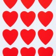 Red hearts background — Stock Photo #19449919