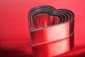 Metalowe serca kształcie — Zdjęcie stockowe