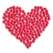 Red hearts background  — Foto Stock