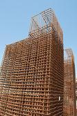 Armadura de construção para reconstrução de estrada — Fotografia Stock