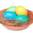 Multicolored Easter eggs — Stock Photo
