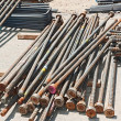 Stock Photo: Reinforcing steel bars