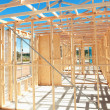 New home construction framing - Foto Stock
