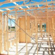 New home construction framing - Stok fotoğraf