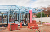 New home construction framing. — Stock Photo