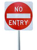 Old no entry traffic sign — Stock Photo