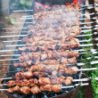 shish kebab on skewers — Stock Photo