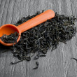 Loose leaf green tea — Stock Photo