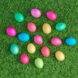 Multicolored easter eggs — Stock Photo #34700731