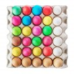 Multicolored Easter eggs — Stock Photo