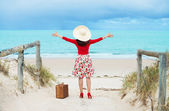 Beautiful traveler — Stock Photo