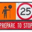 Old prepare to stop traffic sign — Stock Photo #41887447