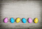 Multicolored easter eggs — Foto de Stock