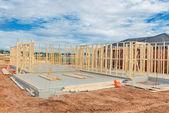 Nouveau cadrage de construction de maisons. — Photo