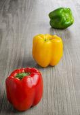 Veelkleurige paprika 's — Stockfoto