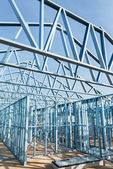 Steel framework under construction — Stock Photo