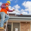 Worker and solar panels — Stock Photo #51313337