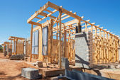 New homes construction — Stock Photo