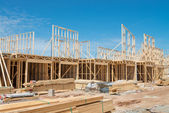 New home construction framing.    — Stock Photo