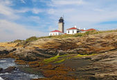 The Beavertail Light on Conanicut Island, Rhode Island — Stock Photo