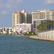 Partial skyline of Sarasota, Florida, viewed from the water - Foto de Stock