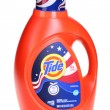 Bright orange bottle of Tide laundry detergent — Stock Photo