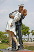 Unconditional Surrender statue in Sarasota, Florida — Stock Photo