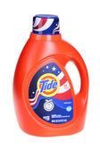 Bright orange bottle of Tide laundry detergent — Stock Photo