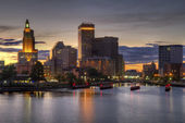 HDR image of the skyline of Providence, Rhode Island — Stock Photo