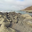 Rocky beach and clouds on the Lost Coast of California - Foto Stock