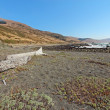 Pebble beach and driftwood on the Lost Coast of California — Stock Photo