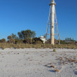 Gasparilla Island Rear Range Light, Florida vertical - 图库照片