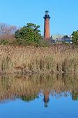 The Currituck Beach Lighthouse near Corolla, North Carolina vert — Stock Photo