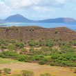 Diamondhead crater with Koko Head in the distance - Stock Photo