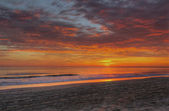 Sunrise over the beach at Nags Head, North Carolina — Stockfoto