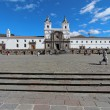 Front facade of the church and convent of San Francisco in Quito — Stock Photo