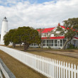 Ocracoke Island lighthouse on the Outer Banks of North Carolina — Стоковая фотография