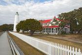 Faro dell'isola di ocracoke sulle rive esterne della carolina del nord — Foto Stock
