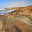 Stock Photo: Pebble beach at BeHollow State Beach in California