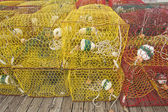 Crab pots on a dock in North Carolina — Stock Photo