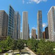 Skyscrapers in downtown Chicago, Illinois — Stock Photo