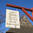 Sign advertizing Shields Tavern in Colonial Williamsburg, Virgin — Stockfoto