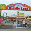 Stock Photo: Entrance to Kiddie Land and rides at IndianState Fair in I