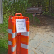 Barricades close the Appalachian Trail in Great Smoky Mountains — Foto de Stock