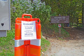 Barricades close the Appalachian Trail in Great Smoky Mountains — Stock Photo