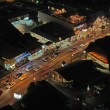 Aerial night view of the main road through Gatlinburg, Tennessee — Foto Stock