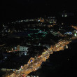 Aerial night view of the main road through Gatlinburg, Tennessee — Stock Photo