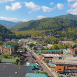 Aerial view of the main road through Gatlinburg, Tennessee — Stockfoto