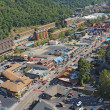 Aerial view of the main road through Gatlinburg, Tennessee — Foto Stock