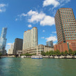 Skyline of Chicago, Illinois along the Chicago River — Stock Photo #33511149
